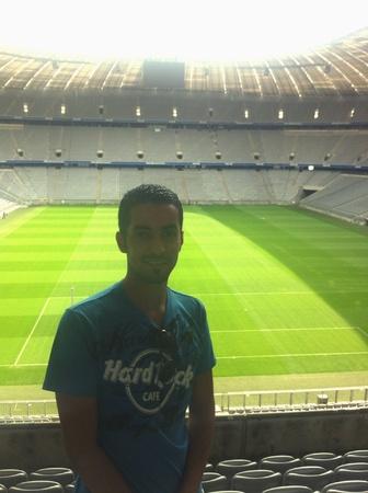 bayern: Bayern Munich stadium. Incredible view.  Stock Photo