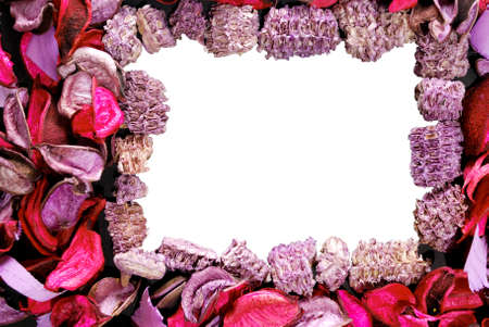 Frame for photo or text made of pressed flowers