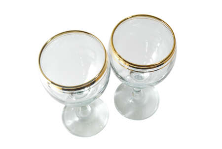 Isolated two glasses on a white background Stock Photo