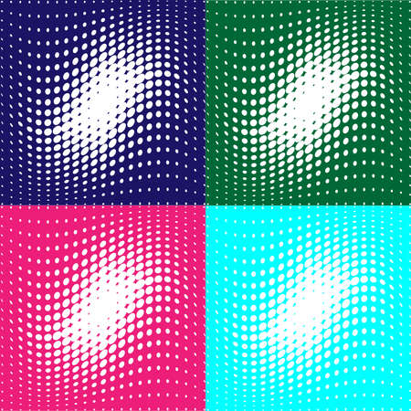 Abstract background made of halftones in variations. Vector illustration