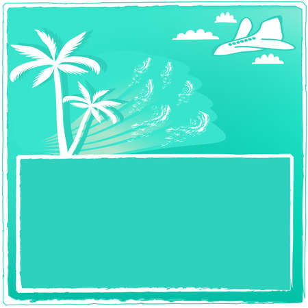 Conceptual card of tourism relaxation. Vector illustration Vector