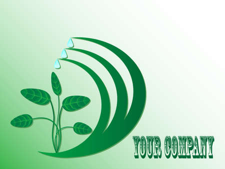 Logo for company in style of environmental protection
