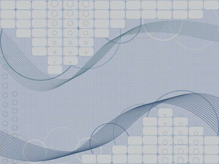 Tech abstract background in scientific style. Vector illustration Illustration