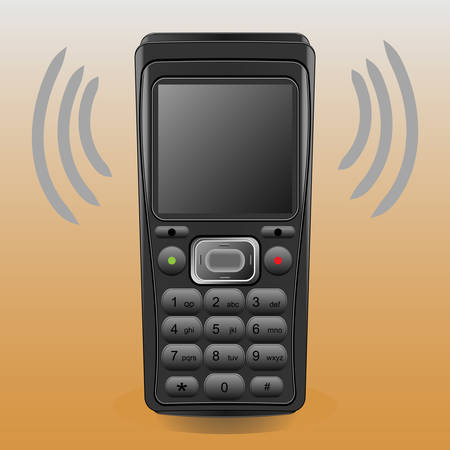 Vector illustration of  mobile phone. Call the caller