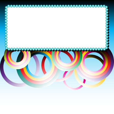 Colorful abstract frame made of circle. Vector illustration