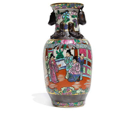 An ancient Chinese vase on a white background photo