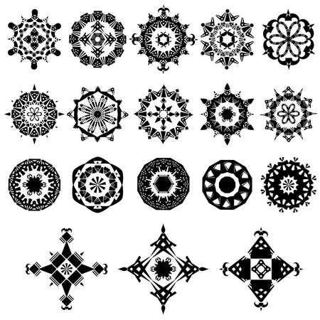 set of ornate design elements Stock Vector - 14334279