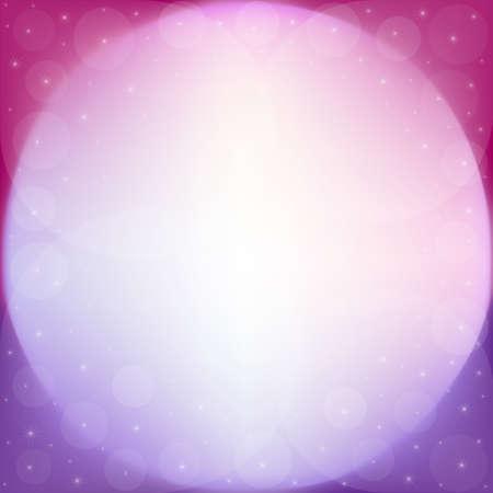 Fantasy background of shiny circles and stars