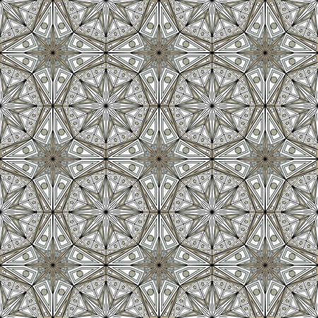 kaleidoscope: Geometric pattern seamless in abstract style