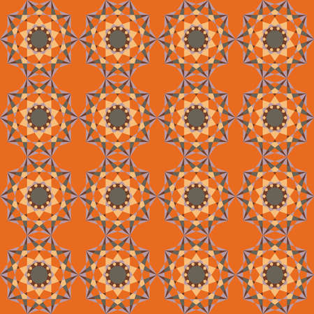 kaleidoscopic: Colorful fractal background. Vector seamless pattern