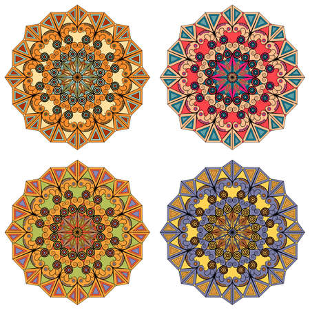 Set of vector round patterns. Elements for design Stock Vector - 18022492