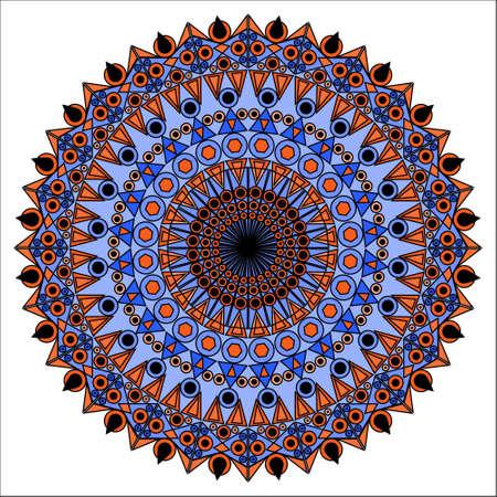 moorish: Colorful ornamental element for design Stock Photo