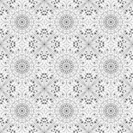 Black and white geometric pattern seamless. Arabesque style