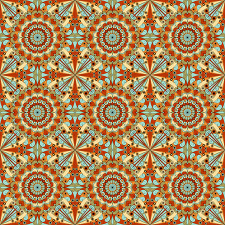 Colorful geometric pattern seamless. Arabesque style photo