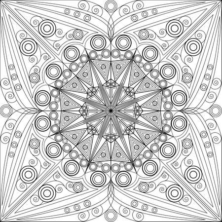 patterned background. Arabesque ornament Vector