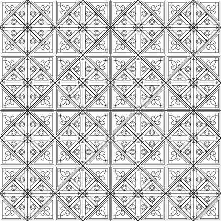 Black and white geometric pattern seamless. Arabesque style
