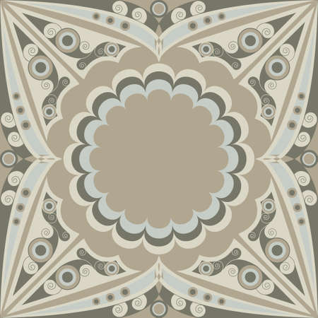 Ornamental vector patterned background. Arabesque ornament Vector