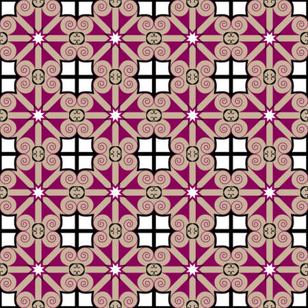 Colorful geometric pattern seamless  Arabesque style Vector