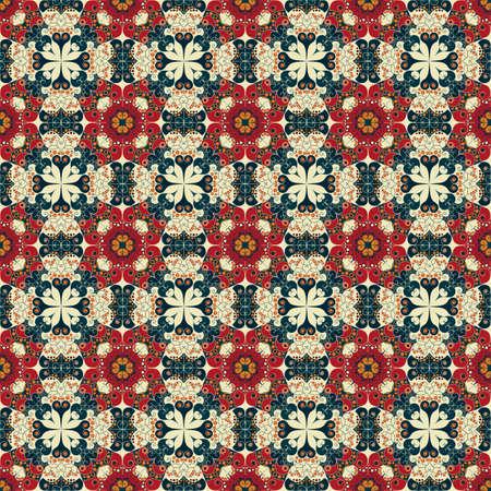 Colorful geometric pattern seamless. Arabesque style Illustration