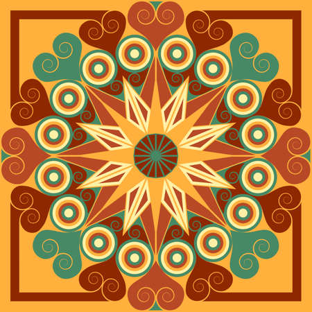 moorish: Colorful vector patterned background. Arabesque ornament