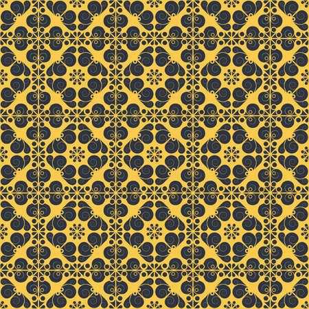 Colorful geometric pattern seamless. Arabesque style Vector