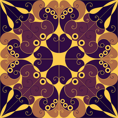 Colorful vector patterned background. Arabesque ornament Vector
