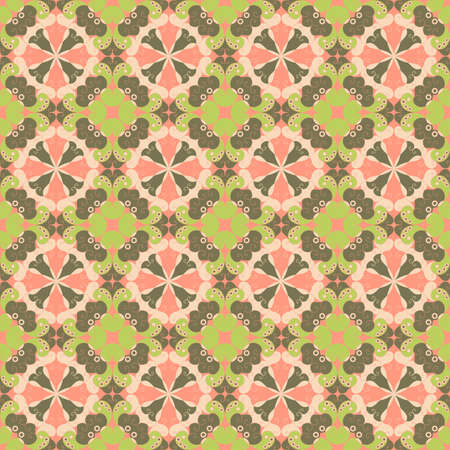 Vector seamless  Colorful ethnic pattern  Arabesque style Vector