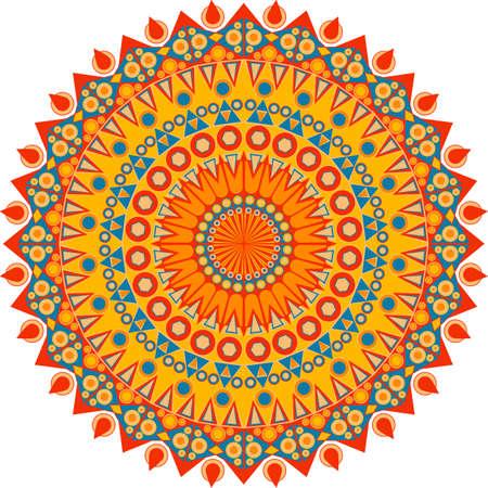 다채로운 라운드 민족 패턴입니다. 디자인에 대 한 요소