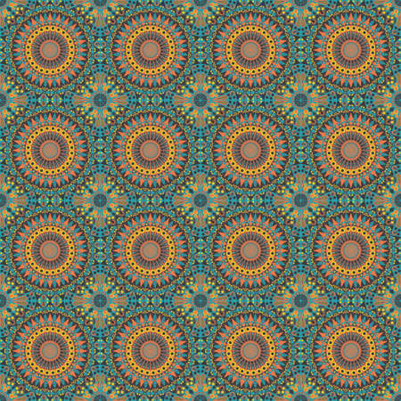 Vector seamless pattern. Colorful ethnic ornament. Arabesque style Vector