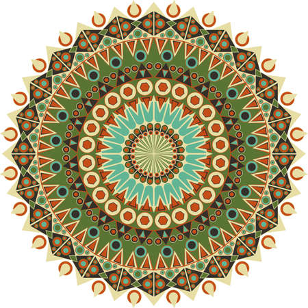 Colorful round ethnic pattern. Element for design Vector