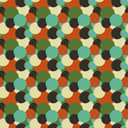 Circles background. Vector seamless pattern made of colorful round shapes Vector