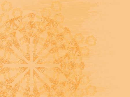 Vintage background. Ethnic ronud pattern. Grunge style