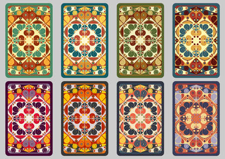moorish clothing: Collection retro cards. Ethnic backgrounds. Card of invitation. Vintage design elements