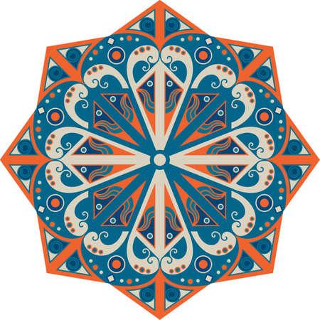 moorish: Colorful round ethnic pattern. Element for design