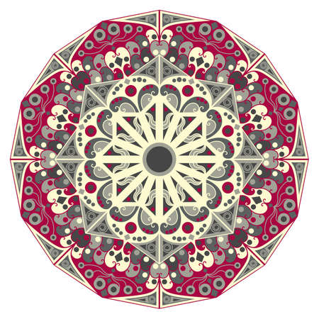 element for design: Colorful round ethnic pattern. Element for design