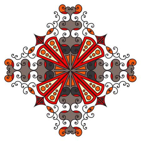 element for design: Colorful ethnic pattern element for design