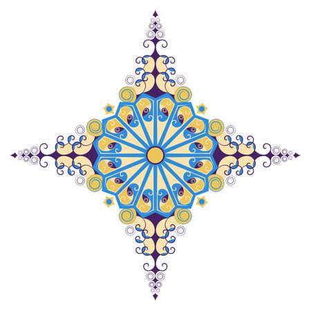 element for design: Colorful ethnic pattern. Vector element for design