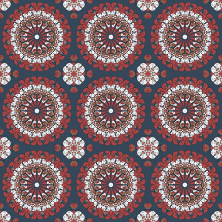 ornamentations: Vector seamless pattern. Colorful ethnic ornament. Arabesque style Illustration