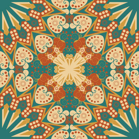 Colorful ethnic patterned background. Arabesque vector ornament Imagens - 41820397