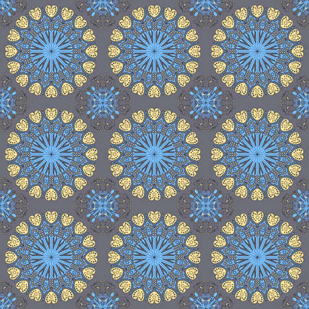 Vector seamless pattern. Colorful ethnic ornament. Arabesque style 일러스트