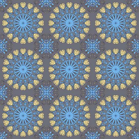 Vector seamless pattern. Colorful ethnic ornament. Arabesque style Stock Illustratie