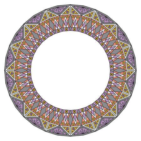 colorful frame: Colorful ethnic patterned frame. Vector ornamental background