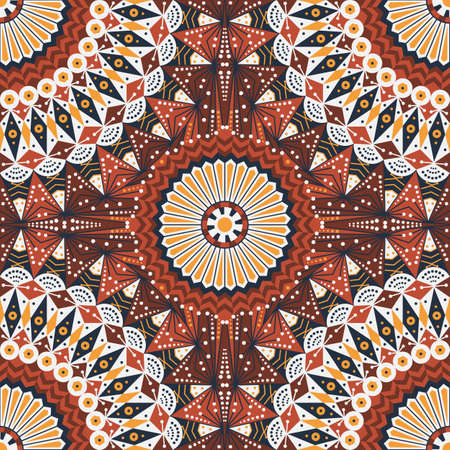 moorish: Colorful ethnic patterned background. Arabesque vector ornament