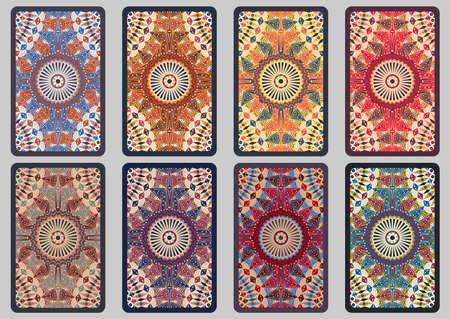 moorish clothing: Collection retro cards. Ethnic backgrounds. Card of invitation. Vintage design elements