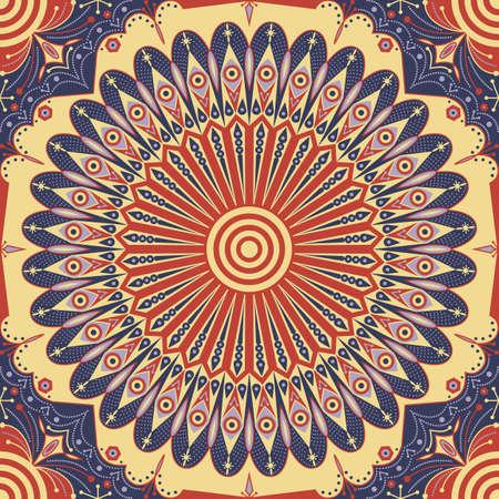 Colorful à motif ethnique. ornement vecteur Arabesque Banque d'images - 46849473