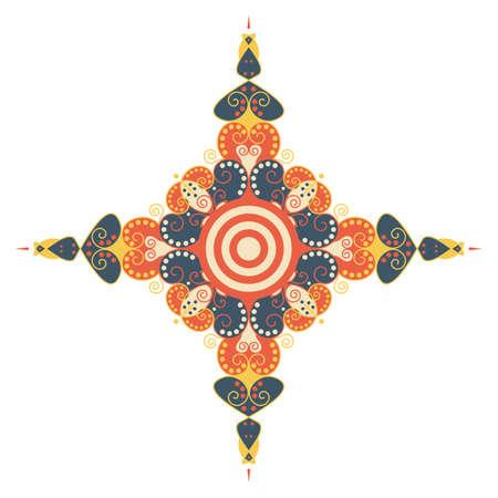 moorish: Colorful ethnic pattern. element for design
