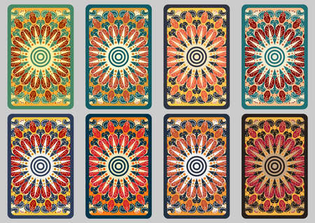 tarot: Collection retro cards. Ethnic backgrounds. Card of invitation. Vintage design elements