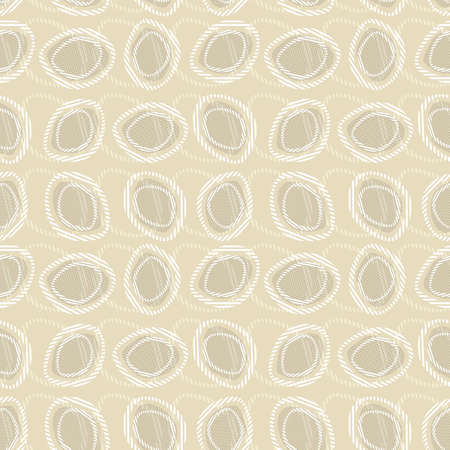 Vector seamless pattern. Abstract background made of stylish ovals Illustration