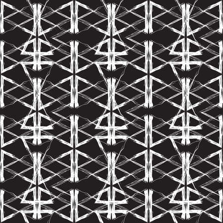 Vector seamless pattern. Abstract background in grunge style Illustration