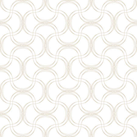 sloppy: Vector seamless pattern. Abstract background made of wavy lines Illustration